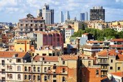 Vista aerea di alloggio nella periferia Fotografie Stock Libere da Diritti