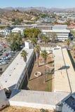 Vista aerea di Alte Feste e della High School di Windhoek Fotografie Stock