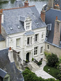 Vista aerea di Amboise Fotografia Stock
