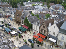 Vista aerea di Amboise Fotografie Stock Libere da Diritti