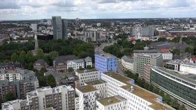 Vista aerea di Amburgo stock footage