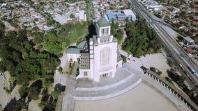 Vista aerea di architettura della chiesa nel Cile Fotografia Stock
