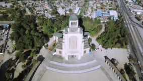 Vista aerea di architettura della chiesa nel Cile Immagini Stock Libere da Diritti