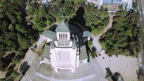 Vista aerea di architettura della chiesa nel Cile Fotografie Stock