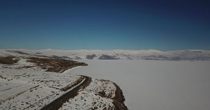 Vista aerea di Ardahan Turchia archivi video