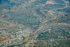 Vista aerea di area di Santa Clarita fotografia stock