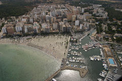 Vista aerea di Arenal Fotografia Stock
