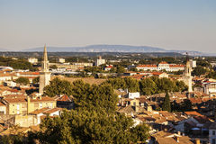 Vista aerea di Avignone Immagini Stock