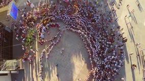 Vista aerea di ballo di amicizia video d archivio