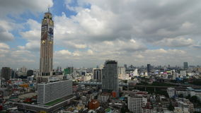 Vista aerea di Bangkok archivi video