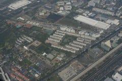 Vista aerea di Bangkok dagli aerei Immagine Stock