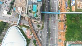 Vista aerea di Bangsar, Malesia stock footage