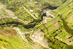 Vista aerea di Banos De Agua Santa Ecuador Fotografia Stock Libera da Diritti