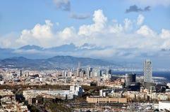 Vista aerea di Barcellona Immagini Stock