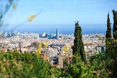 Vista aerea di Barcellona Fotografia Stock
