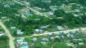 Vista aerea di Belize suburbana Immagine Stock