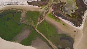 Vista aerea di bella Ria Formosa in Algarve, Portogallo video d archivio