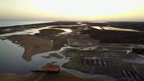 Vista aerea di bella Ria Formosa in Algarve, Portogallo stock footage