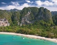 Vista aerea di bella spiaggia Fotografia Stock Libera da Diritti