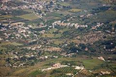 Vista aerea di bella valle verde Immagine Stock Libera da Diritti