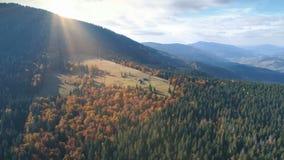 Vista aerea di bello paesaggio della montagna di autunno Fotografia Stock Libera da Diritti