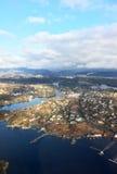 Vista aerea di Bergen, Norvegia Immagini Stock