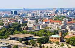Vista aerea di Berlino Immagini Stock