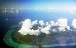Vista aerea di Bora Bora Fotografia Stock Libera da Diritti