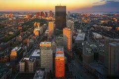 Vista aerea di Boston in Massachusetts immagine stock libera da diritti