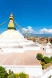 Vista aerea di Boudhanath Stupa alta Fotografia Stock