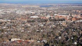 Vista aerea di Boulder, Colorado Immagini Stock