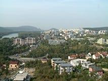 Vista aerea di Bratislava video d archivio