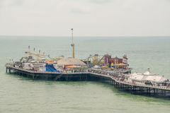Vista aerea di Brighton Pier Immagini Stock