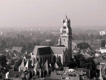 Vista aerea di Bruges Immagini Stock Libere da Diritti