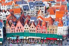 Vista aerea di Bruges Fotografia Stock Libera da Diritti