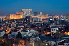 Vista aerea di Bucarest Fotografie Stock
