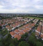 Vista aerea di buon villaggio domestico ambientale in thaila di Bangkok Fotografie Stock Libere da Diritti