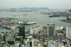 Vista aerea di Busan, Corea del Sud fotografia stock