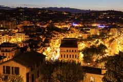 Vista aerea di Cannes ad alba Immagini Stock