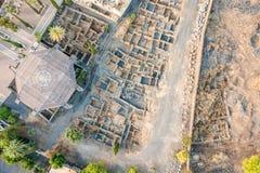 Vista aerea di Capernaum, Galilea, Israele Fotografie Stock Libere da Diritti