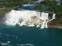 Vista aerea di cascate del Niagara Fotografie Stock Libere da Diritti