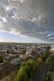 Vista aerea di Castro Verde, nel Alentejo Immagini Stock Libere da Diritti