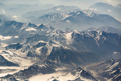 Vista aerea di catena montuosa in Leh, Ladakh, India Immagini Stock