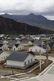 Vista aerea di Chalten al parco nazionale di Los Glaciares Fotografia Stock