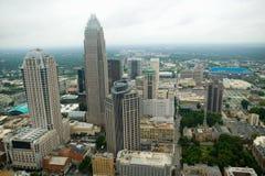 Vista aerea di Charlotte, NC Fotografie Stock Libere da Diritti