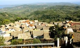Vista aerea di Chlomos, Corfù, Grecia Immagine Stock