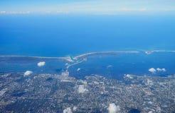 Vista aerea di clearwater Fotografie Stock