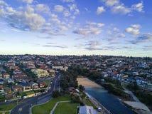 Vista aerea di Clovelly, Sydney Fotografie Stock