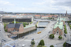 Vista aerea di Copenhaghen fotografie stock