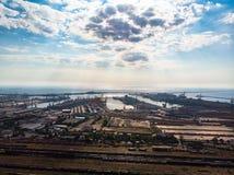 Vista aerea di Costanza, città in Romania immagini stock libere da diritti